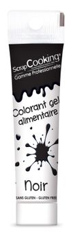Colorant alimentaire gel noir 20 gr - Scrapcooking