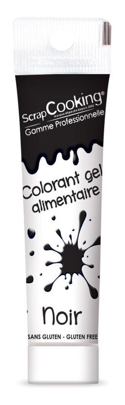 Colorant alimentaire gel noir 20 gr - Scrapcooking