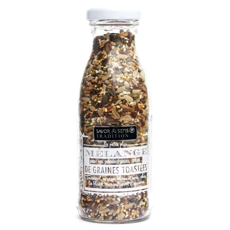 Mélange 8 graines toastées 160gr - Savor & Sens