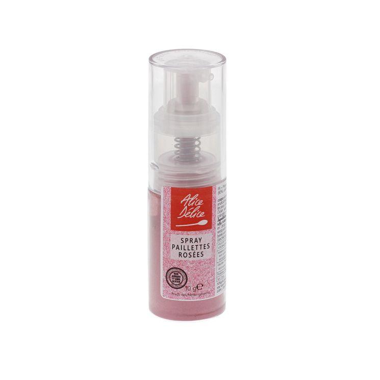 Spray paillettes rosées 10 gr