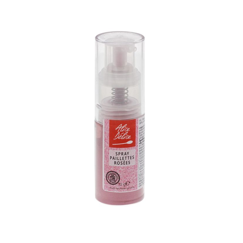 Spray paillettes roses 10 gr - Alice Délice