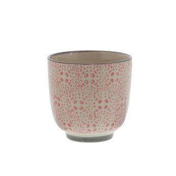 TASSE CAFE CECILE ROSE ET GRIS - BLOOMINGVILLE