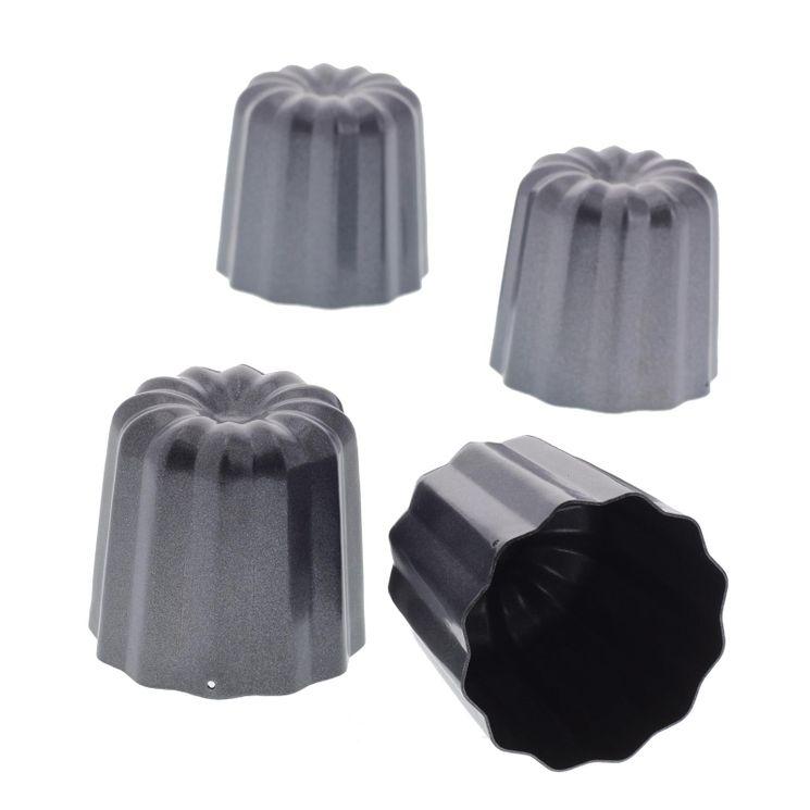 4 moules à cannelés en métal anti adhérent - De Buyer