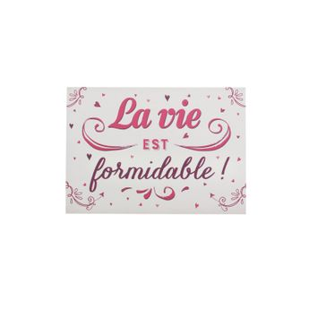 CP LA VIE EST FORMIDABLE - ART GRAFIK