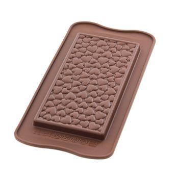 Moule silicone tablette cœur - Silikomart