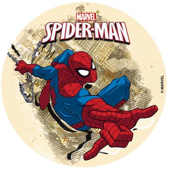 DISQUE EN SUCRE SPIDERMAN - 16CM - DEKORA