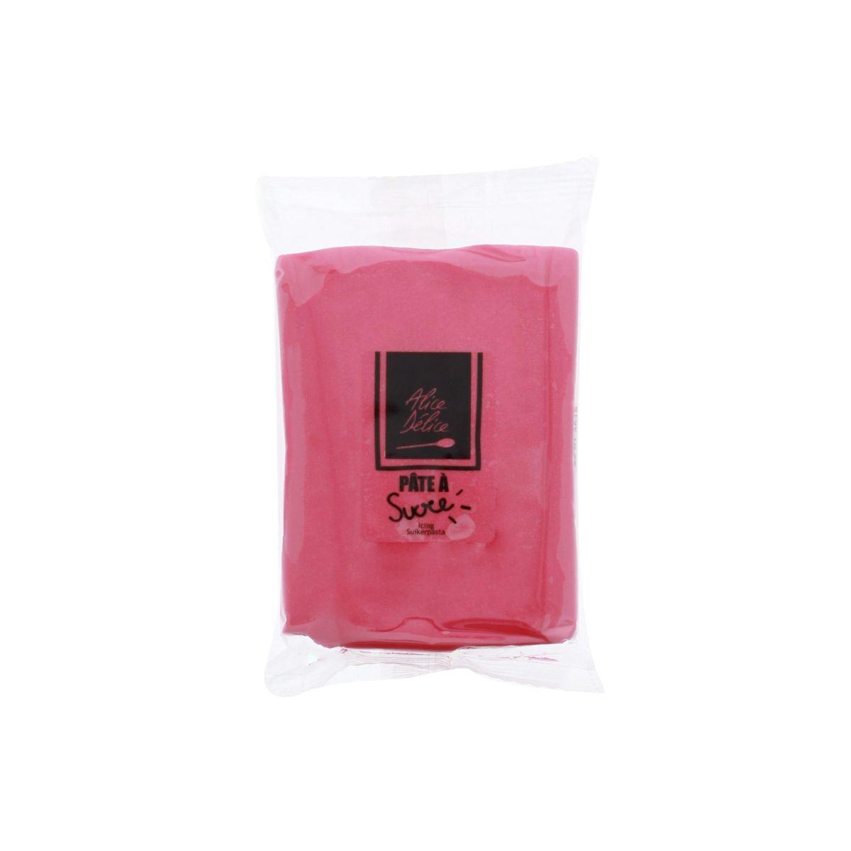 Pâte à sucre rose foncé 250g - Alice Délice