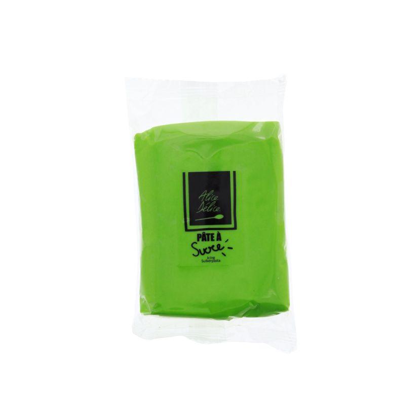 Pâte à sucre vert clair 250g - Alice Délice