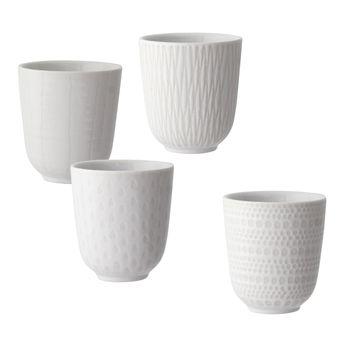 COFFRET 4 TASSES LUMI BLANC 4X0.15 L - ASA