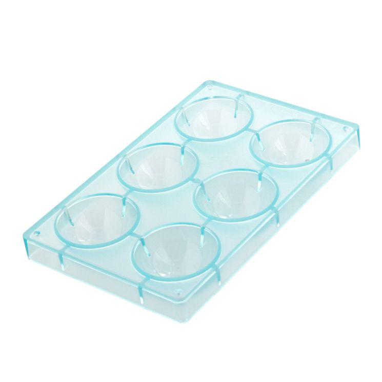 Moule chocolats plaque 6 demi-sphères - Matfer