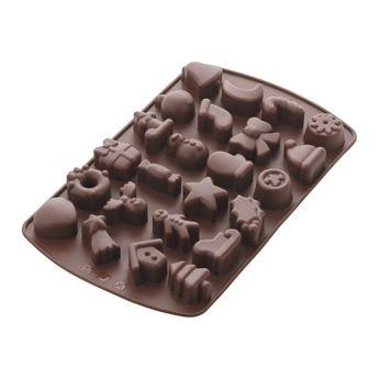 MOULE SILICONE 24 CHOCOLATS DE NOEL - MASTRAD
