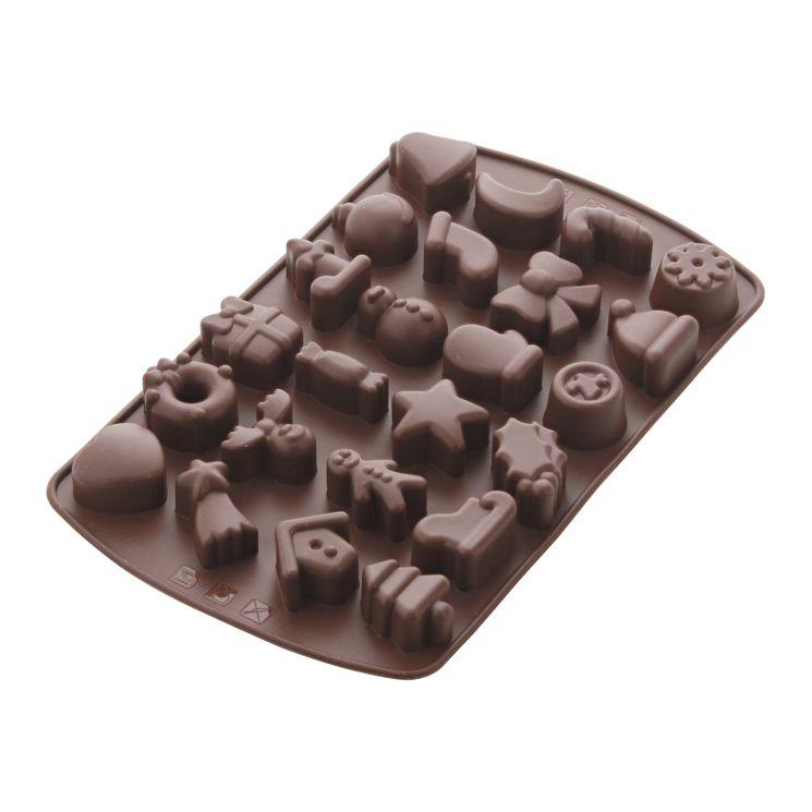 Moule silicone 24 chocolats de Noël - Mastrad
