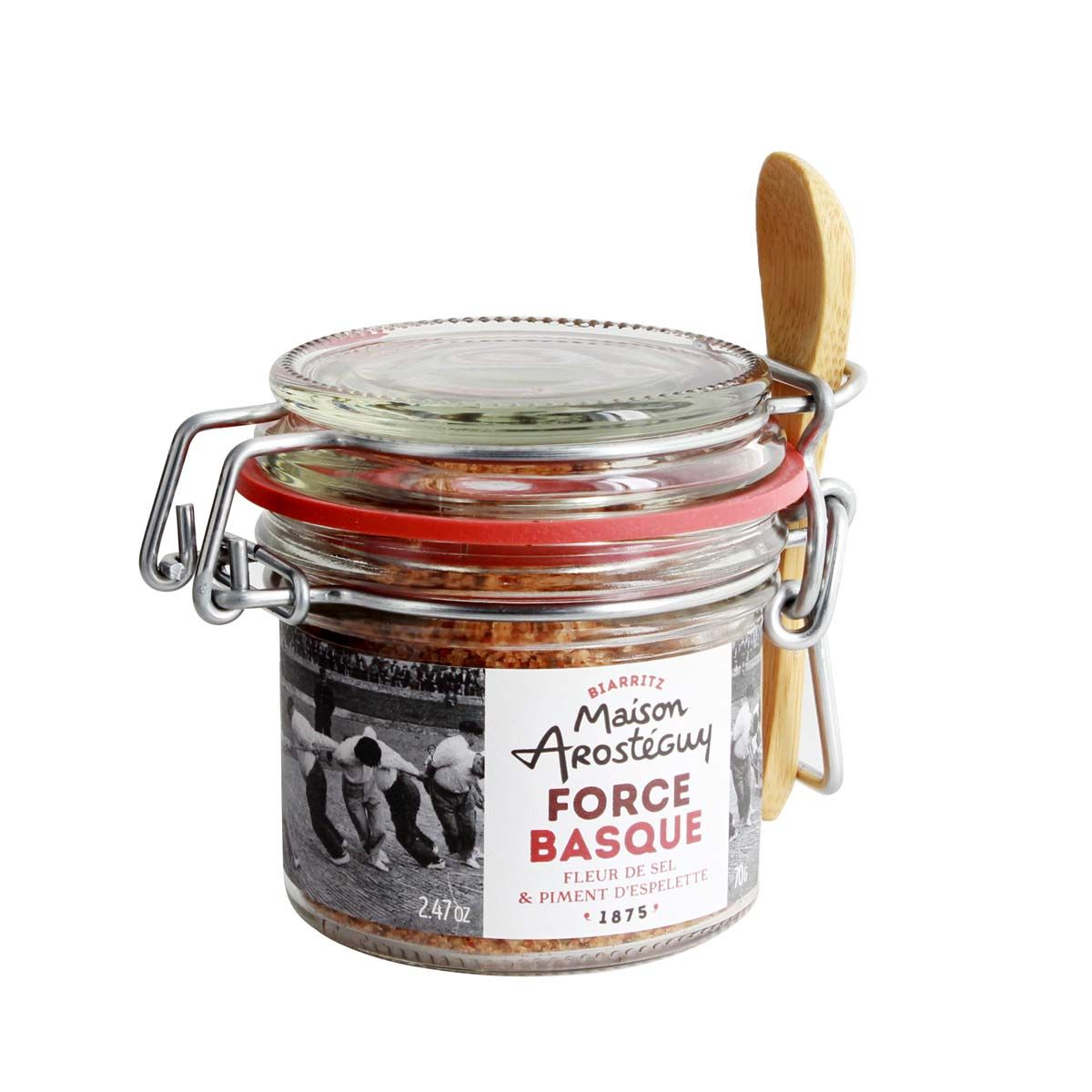 FORCE BASQUE FLEUR DE SEL ET PIMENT D´ESPELETTE - AROSTEGUY