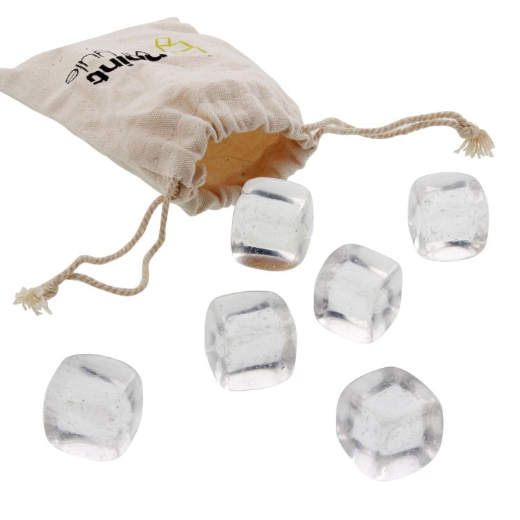 SET 6 GLACONS QUARTZ AVEC POCHETTE - POINT VIRGULE