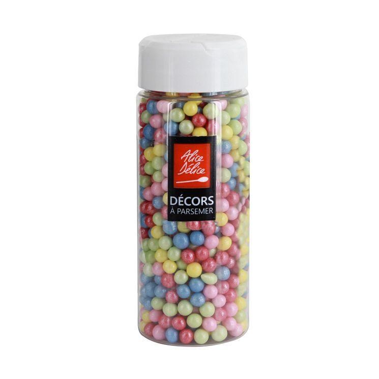 Perles sucre multicolores 80gr - Alice Délice