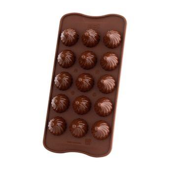 Moule à chocolats 3D en silicone Chocoflame - Silikomart