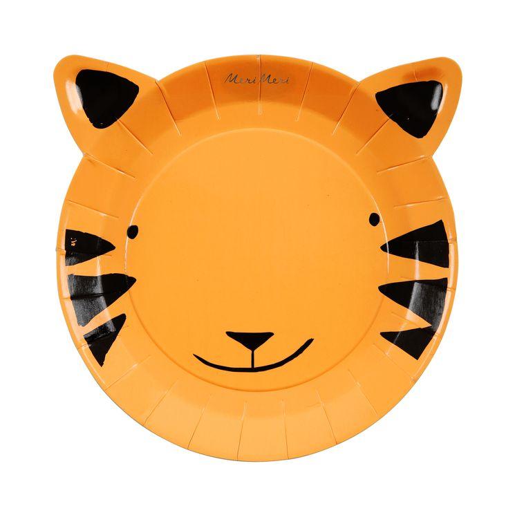 12 petites assiettes tigre - Meri Meri