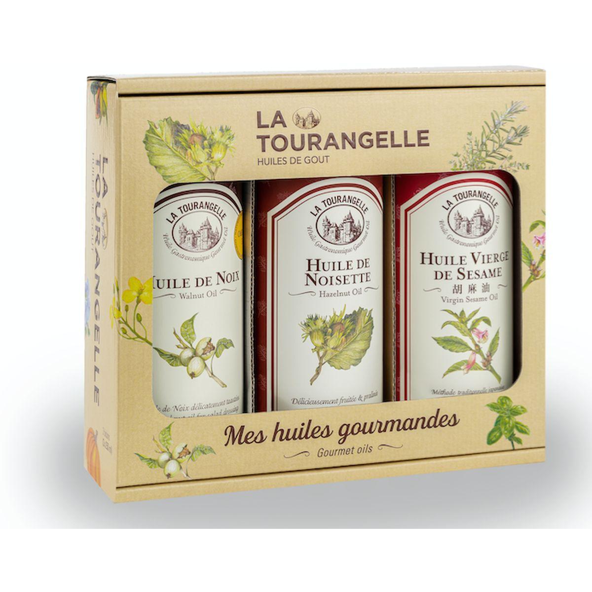 Coffret Huiles best seller : Noix. Noisettes et Sésame - La Tourangelle