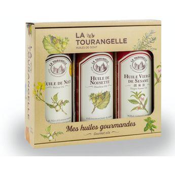 Achat en ligne Coffret Huiles best seller : Noix. Noisettes et Sésame - La Tourangelle