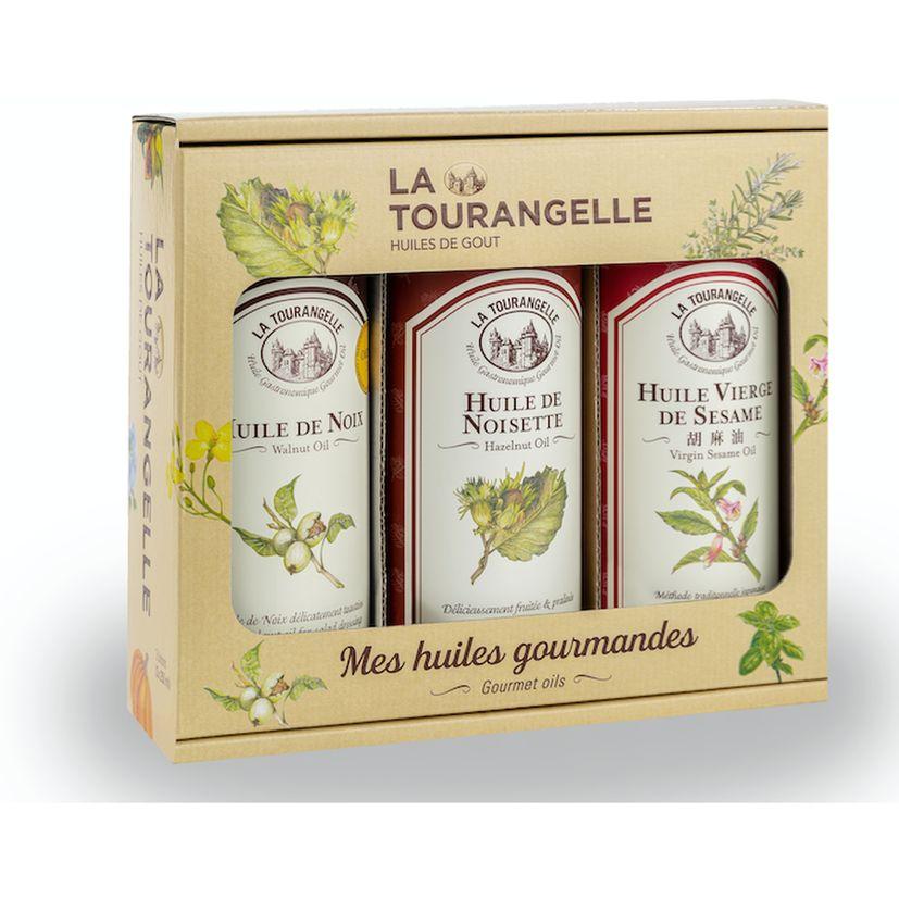 Coffret Huiles best seller : Noix, Noisettes et Sésame - La Tourangelle