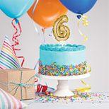 Décor de gâteau : Ballon chiffre 6 doré - Creative Converting