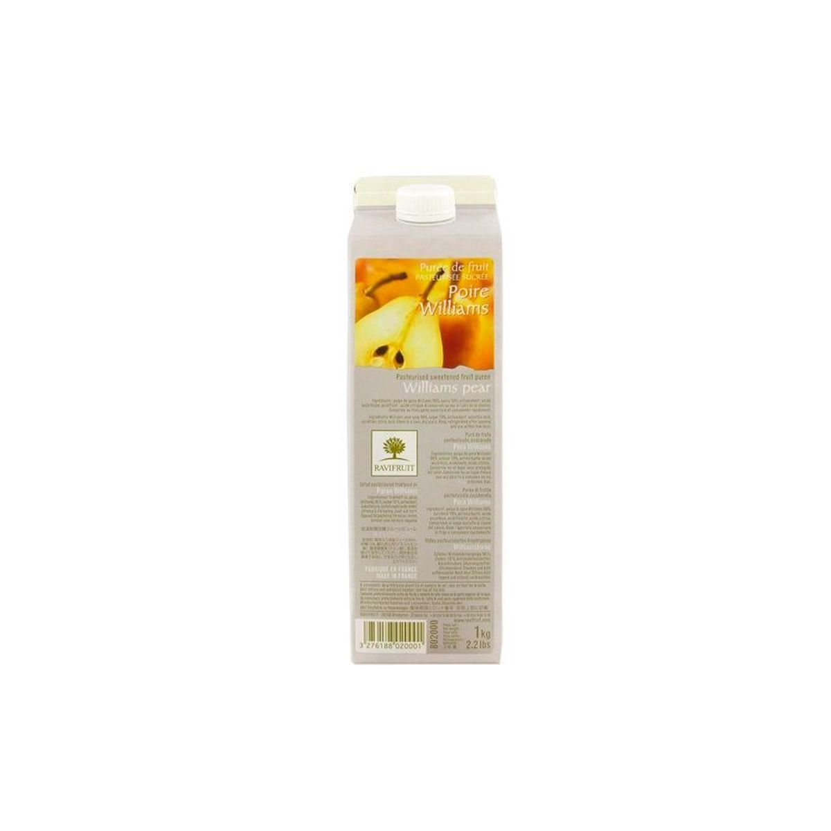 PUREE DE POIRE WILLIAMS 1000ML - RAVIFRUIT
