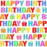 SERVIETTES 25CM X 25CM HAPPY BIRTHDAY - COCKTAIL