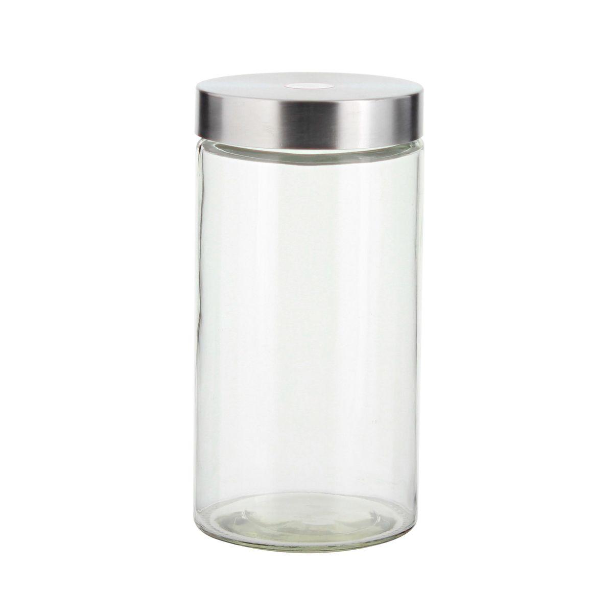 Boîte de conservation en verre avec couvercle en inox 1.6L - Zeller