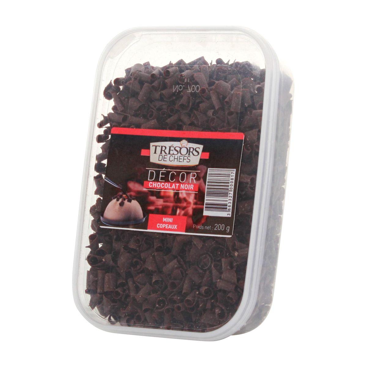 Micro-copeaux chocolat noir 200g - Trésors de Chefs