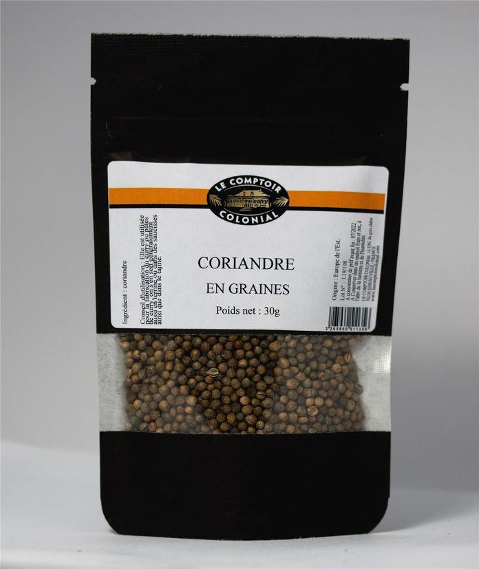 Coriandre en graines sachet 30gr - Maom