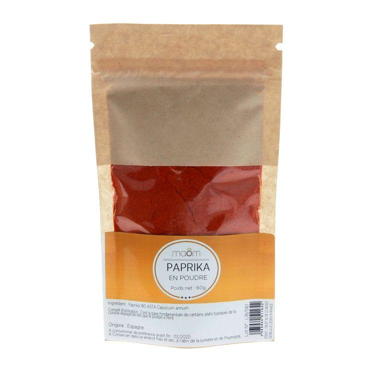 Paprika en poudre sachet 60gr - Maom