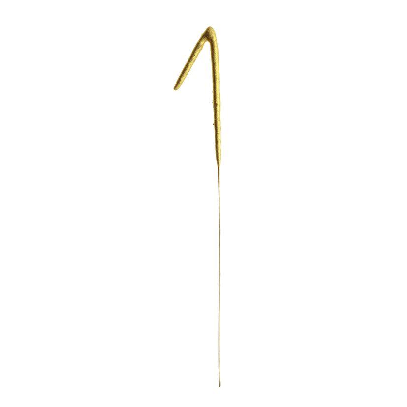Bougie scintillante dorée chiffre 1 - Patisdecor