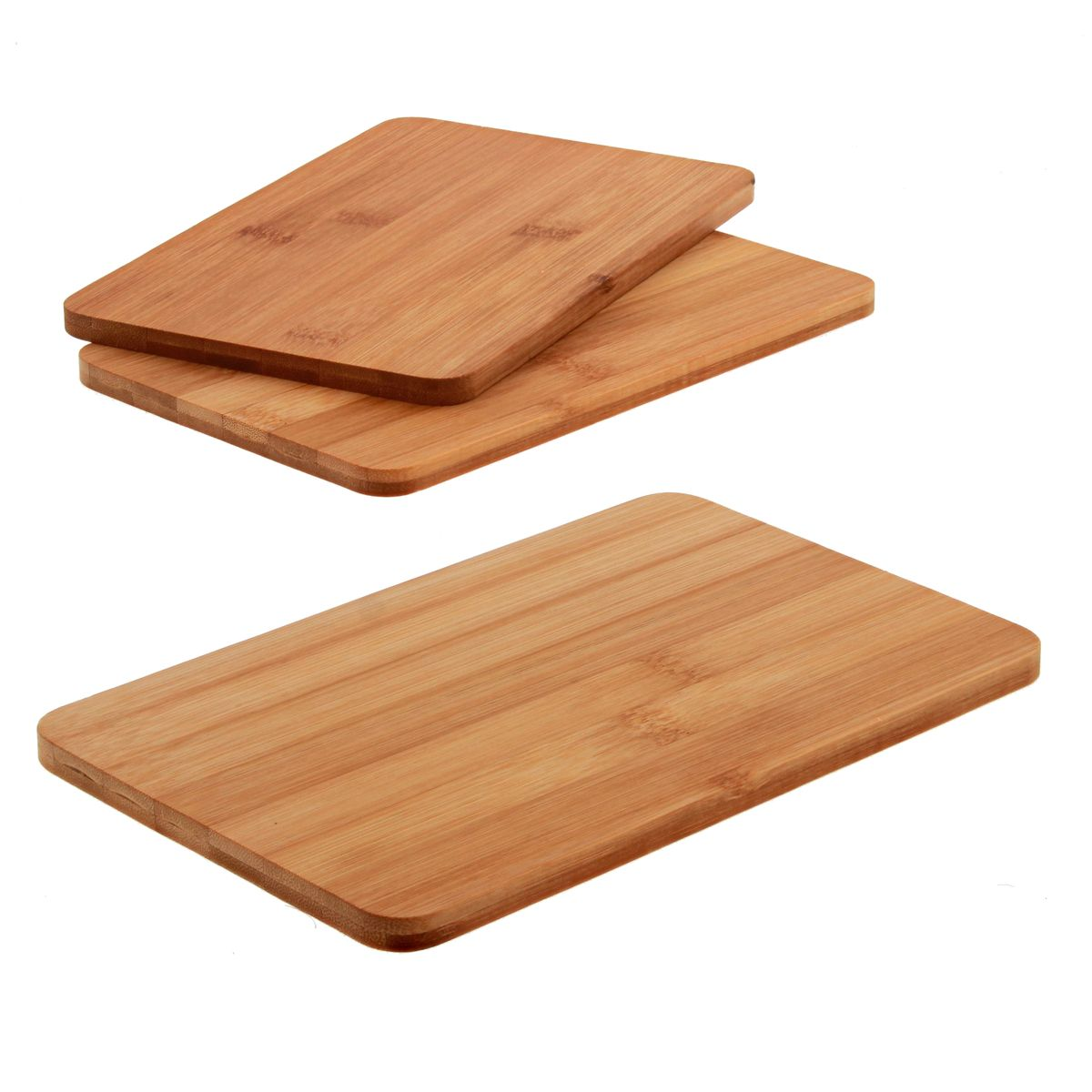 Lot 3 planches en bambou 22 x 14 cm - Zeller