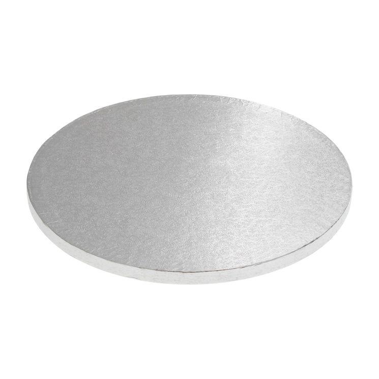 Base gâteau ronde argentée 30cm - Anniversary House