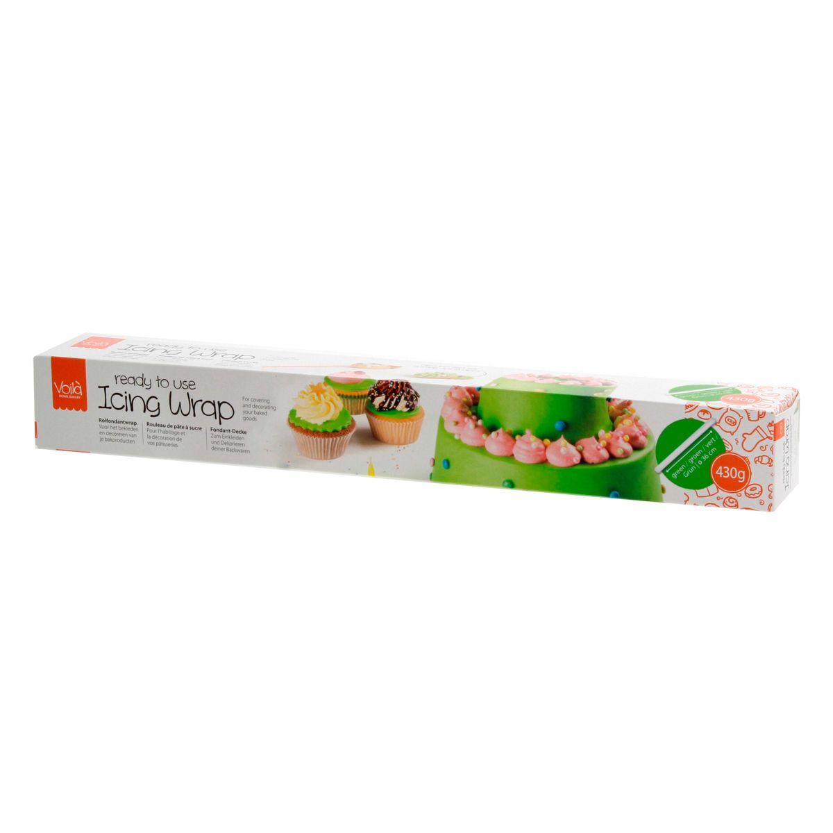 Rouleau de pâte à sucre vert 430 gr - Voila