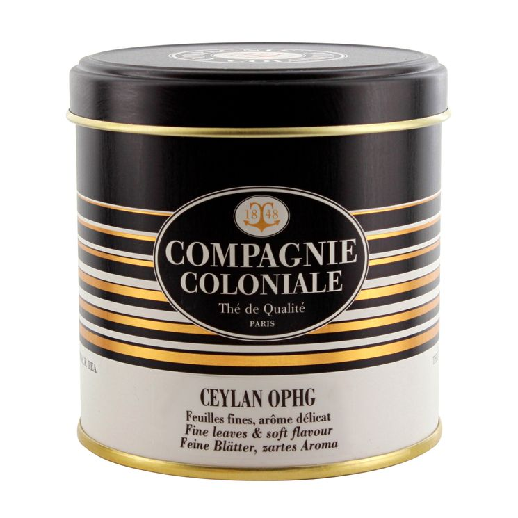 THE NOIR NATURE CEYLAN OPHG BOITE METAL - COMPAGNIE COLONIALE