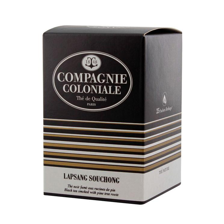Thé noir nature 25 berlingots Lapsang Suchong - Compagnie Coloniale