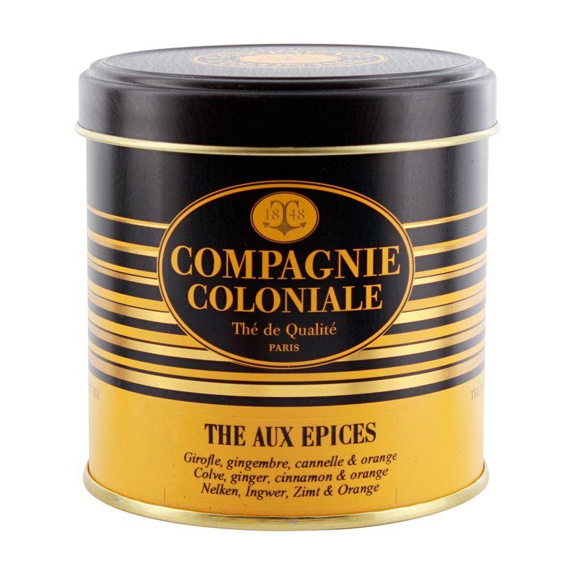 Thé noir aromatisé boîte métal thé aux épices 120gr - Compagnie Coloniale