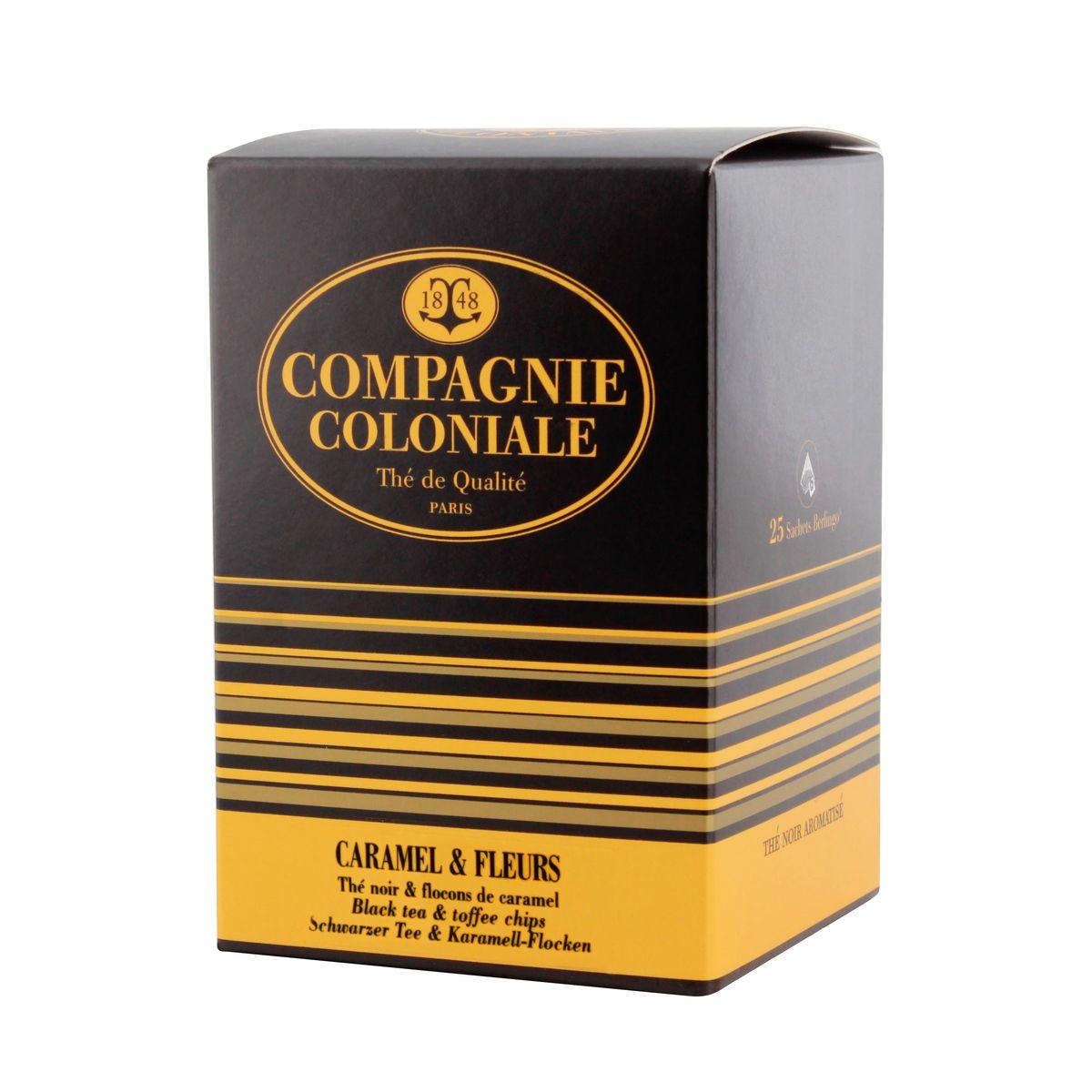 Thé noir aromatisé 25 berlingots caramel et fleur - Compagnie Coloniale