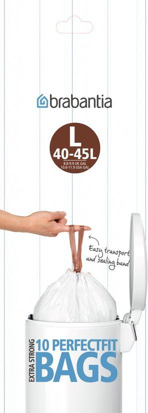 10 sacs-poubelle 45l - Brabantia