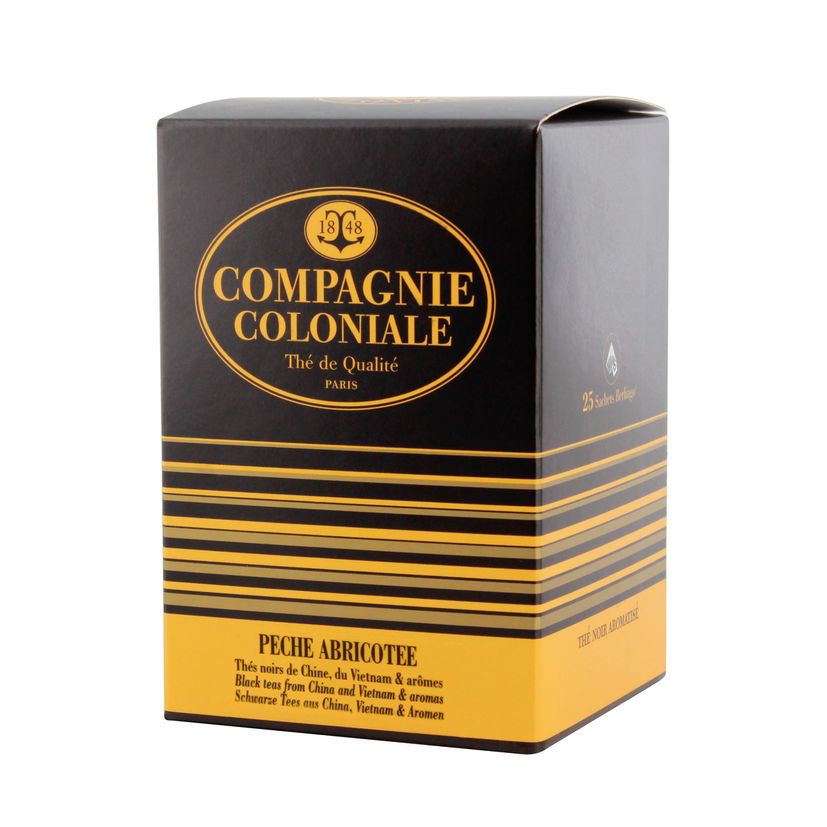 THE NOIR AROMATISE 25 BERLINGO PECHE ABRICOTEE - COMPAGNIE COLONIALE