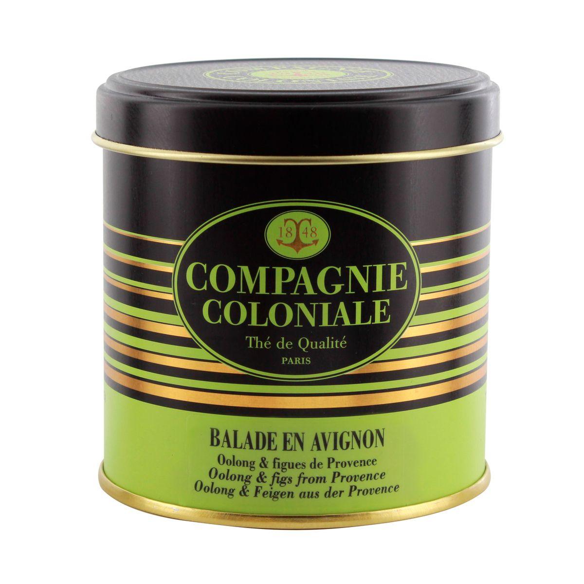 Thé vert aromatisé boîte métal Balade en Avignon 100gr - Compagnie Coloniale