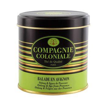 Achat en ligne Thé vert aromatisé boîte métal Balade en Avignon 100gr - Compagnie Coloniale