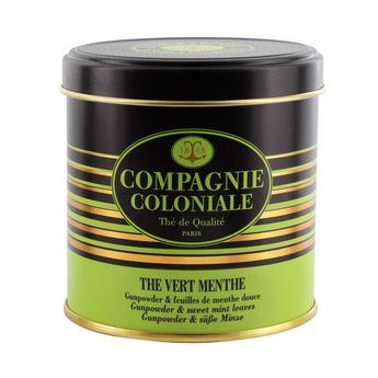 Achat en ligne Thé vert aromatisé boîte métal thé vert menthe 100gr - Compagnie Coloniale