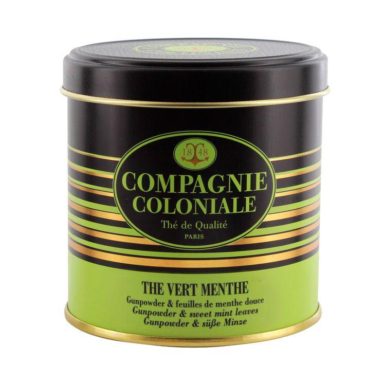 Thé vert nature et aromatisé boîte métal thé vert menthe - Compagnie Coloniale