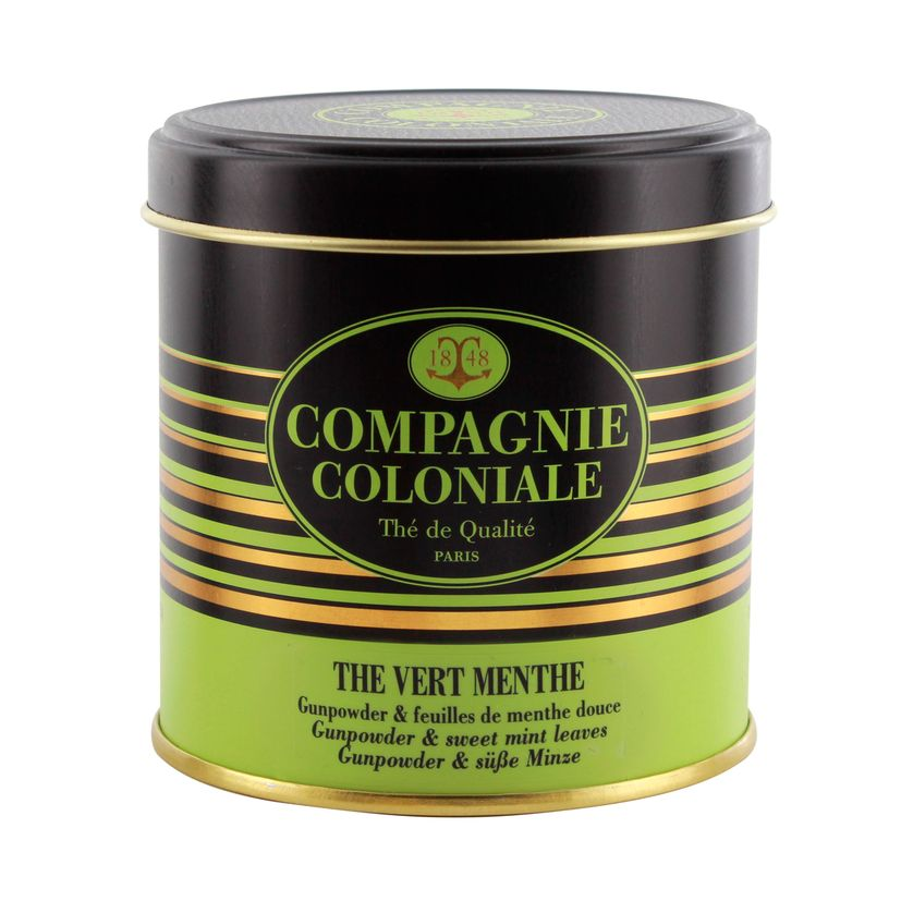 THE VERT NATURE ET AROMATISE BOITE METAL THE VERT MENTHE - COMPAGNIE COLONIALE
