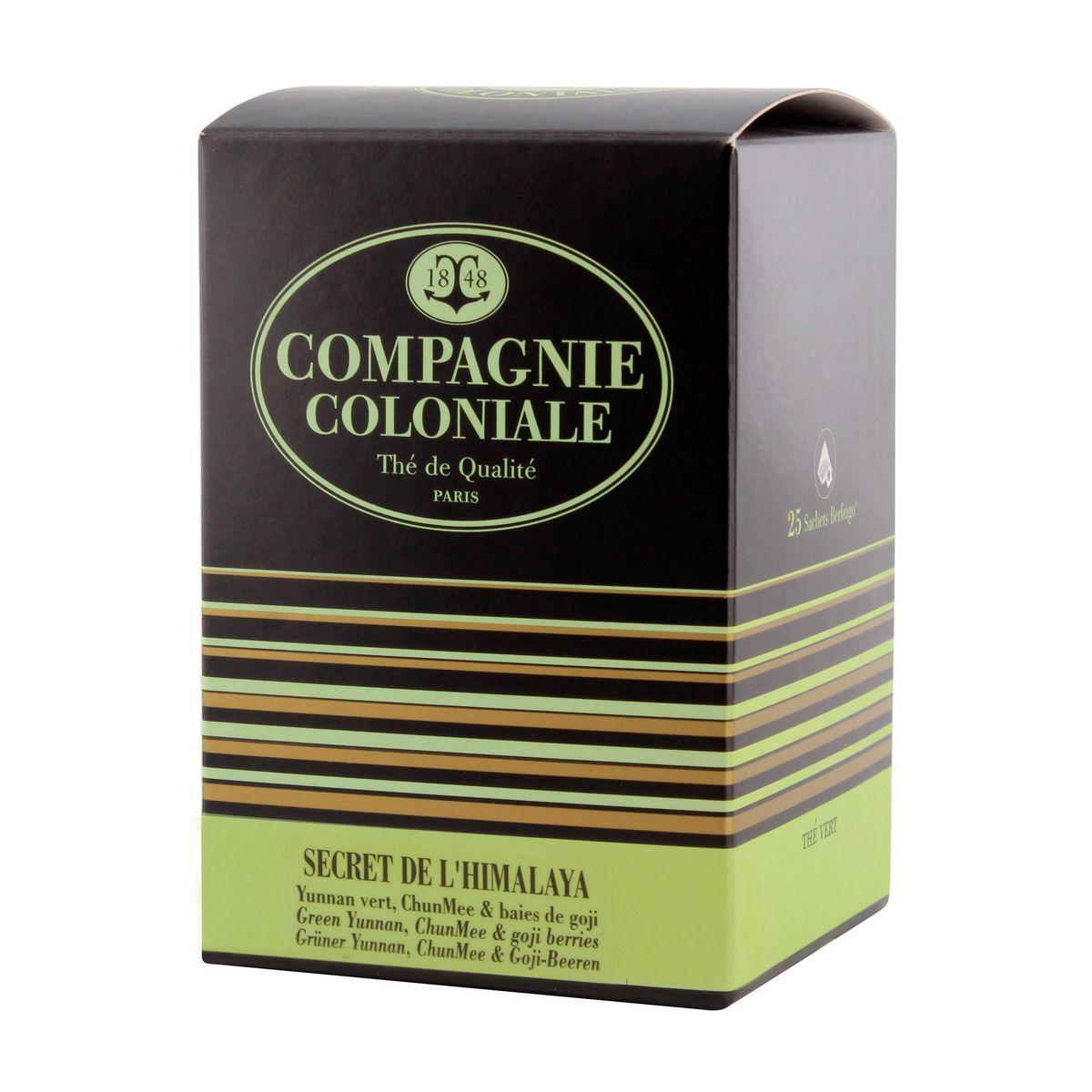 Thé vert aromatisé  25 berlingots Secret de l´Himalaya - Compagnie Coloniale
