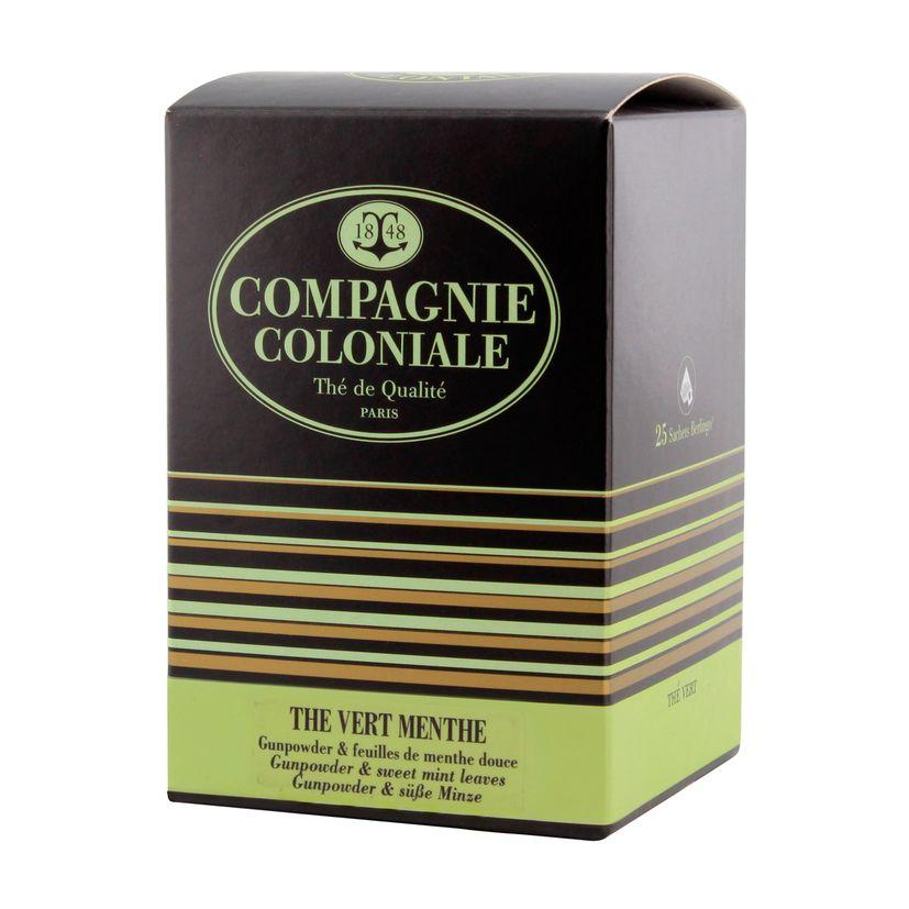 Thé vert aromatisé  25 berlingots thé vert menthe - Compagnie Coloniale