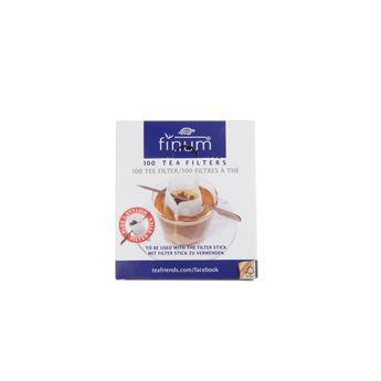 100 filtres à thé compostables + sticks 100x75mm - Finum