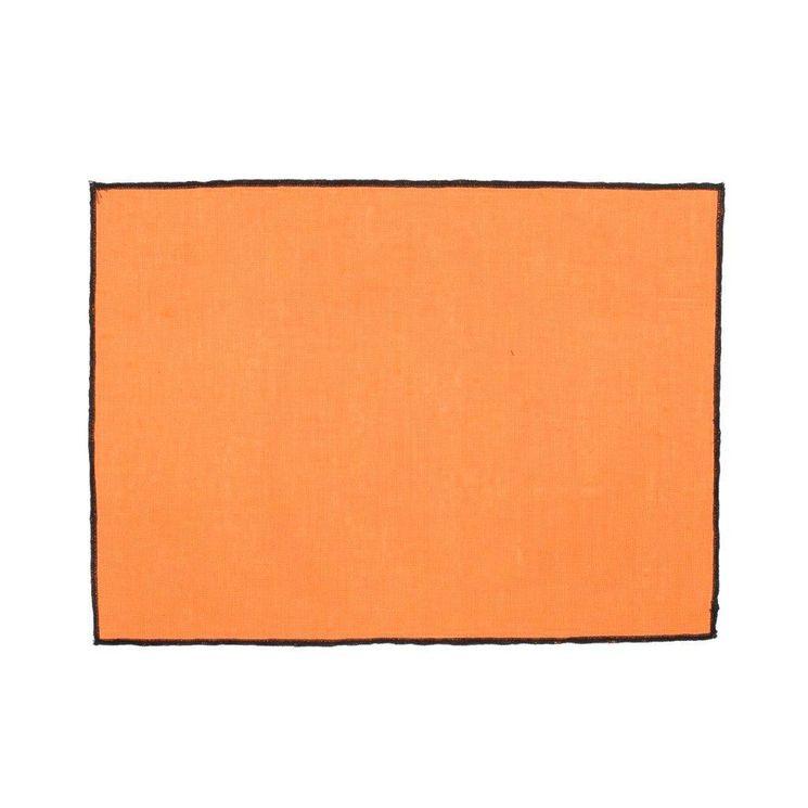 Set de table Borgo 35x48 abricot  100% lin enduit - Harmony